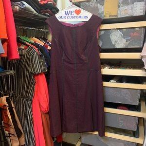 Purple wool dress